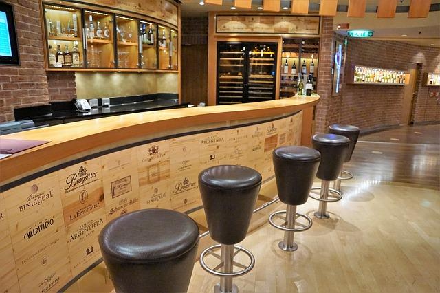 Wine Tasting Room Set Up
